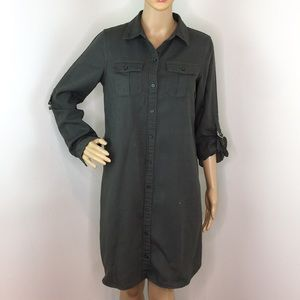 41 Hawthorn Olive Green Shirt Dress